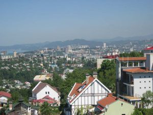 Вид на Сочи со смотровой площадки