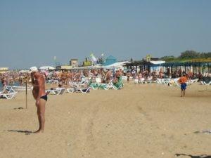 Просторный пляж Витязево