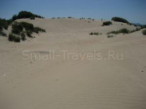 Большой песчаный пляж в Витязево