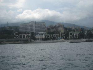 Алушта гостиницы вид с моря