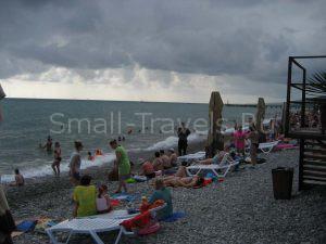 Пляжная полоса в Лазаревском
